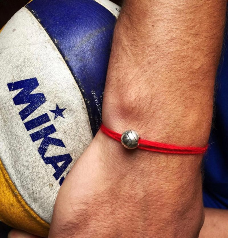 Волейбол украшение браслет подвеска