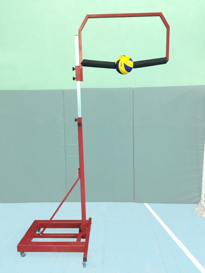 Тренажер для отработки нападающего удара в волейболе с одним мячом